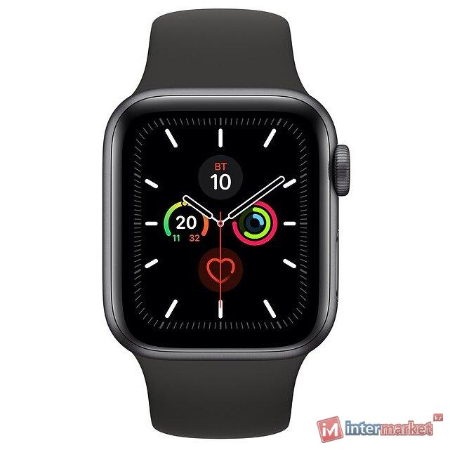 Часы Apple Watch Series 5 GPS 44mm Space Grey with Black Sport Band